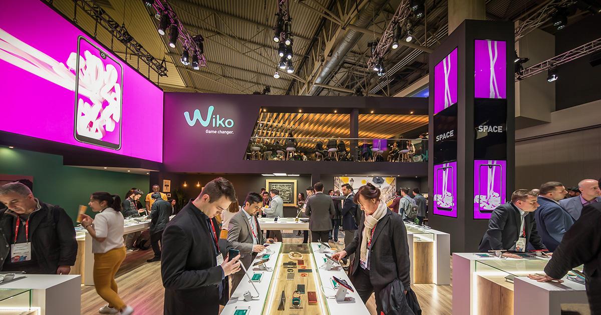 Wiko apresenta nova gama de produtos no MWC, num stand com imagem renovada